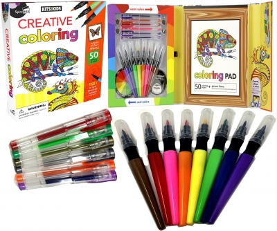 Kids School Creative Activity Colouring Collection Box Set by