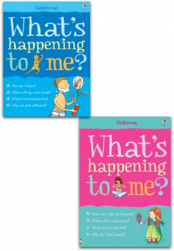 Usborne Whats Happening to Me Collection 2 Books Set Girls Edition and Boy Facts of Life by Alex Frith, Susan Meredith, Nancy Leschnikoff