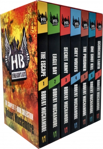 Robert Muchamore Hendersons Boys 7 Books Collection Box Set by Robert Muchamore