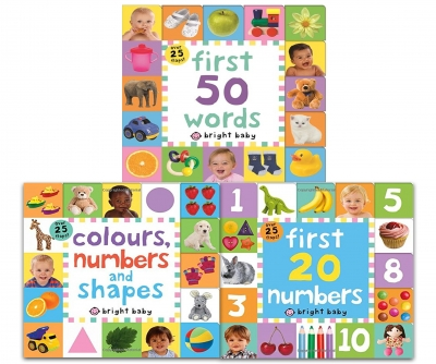 Lift-the-Flap Tab Books Collection 3 Books Set (Preschool Skills, Early Learning) (Colours, Numbers and Shapes, First 20 Numbers, First 50 Words) by Roger Priddy
