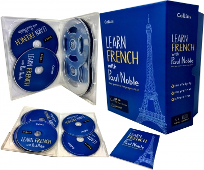 Learn French with Paul Noble Collins 12 CDs, Booklet, DVD Collection Box Set by Paul Noble
