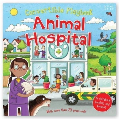 Miles Kelly Convertible Animal Hospital 3 in 1 Storybook Building and Playmat by Belinda Gallagher