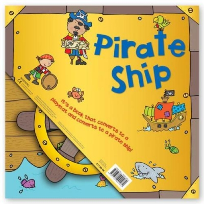 Miles Kelly Convertible Pirate Ship 3 in 1 Book Playmat and Toy for Children by Amy Johnson