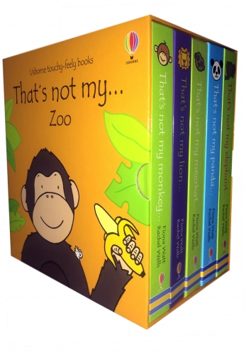 Usborne Touchy-Feely Books Thats Not My Zoo Collection 5 Books Set by Fiona Watt