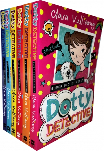 Dotty Detective Collection Clara Vulliamy 6 Books Set Dotty Detective the Paw Print Puzzle Midnight Mystery The Lost Puppy The Birthday Surprise by Clara Vulliamy