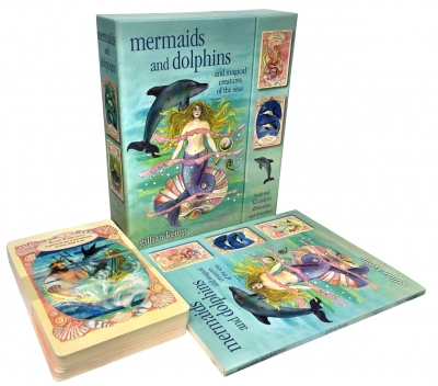 Mermaids And Dolphin And Magical Creatures of the Seas Cards Deck Box Gift Set by Gillian Kemp