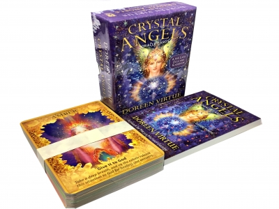 Crystal Angels Oracle Cards A 44-Card Deck and Guidebook Doreen Virtue by Doreen Virtue PhD