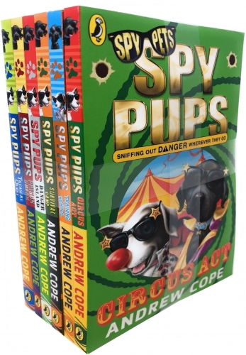 Spy Pups Series Andrew Cope Collection 6 Books Set - Circus Act, Treasure Quest, Training School, Prison Break, Danger Island by Andrew Cope