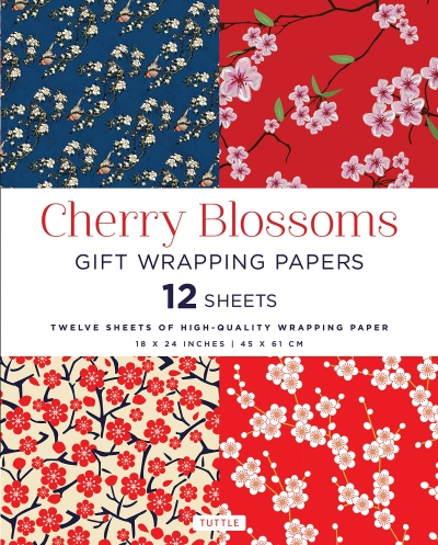 Cherry Blossoms Gift Wrapping Papers by