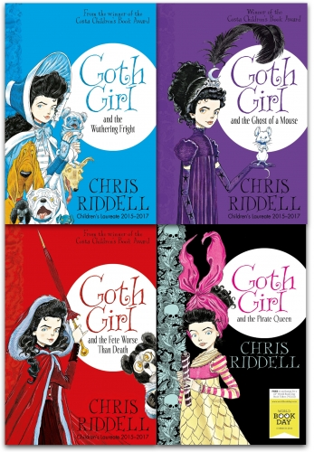 Goth Girl Chris Riddell 4 Books Collection Set - The Wuthering Fright, The Fete Worse Than Death, The Ghost of a Mouse, The Pirate Queen World Book by Chris Riddell