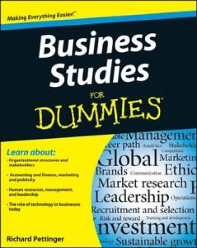 Business Studies For Dummies 1st Edition by Richard Pettinger