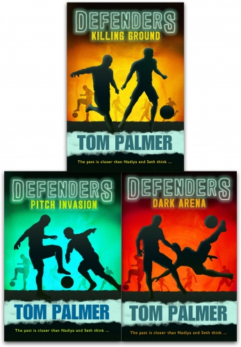 Defenders Series Tom Palmer Collection 3 Books Set Children Dyslexia Friendly (Pitch Invasion, Dark Arena, Killing Ground) by Tom Palmer
