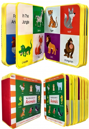 My Little Book Of Animals (Camel, Goat, Birds, Farm Animal, Pets, Tiger, Fox, Cat) by Art Factory