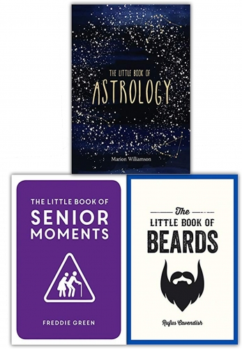 The Little Book Collection 3 Books Set (Senior Moments, Beards, Astrology) by Various