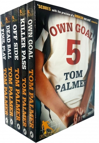 Tom Palmer Football Detective 5 Books Collection Set Own Goal Foul Play Dead Ball Killer Pass Off Side by Tom Palmer