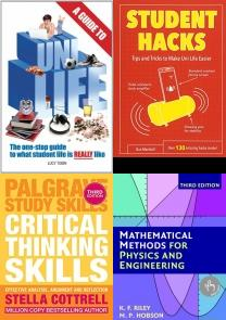 A Guide to Uni Life: The one stop guide to what university is REAL, Cite Them Right: The Essential Referencing Guide (Palgrave Study S, Student Hacks: Tips and Tricks to Make Uni Life Easier, The Study Skills Handbook (Palgrave Study Skills), Critical Thinking Skills: Effective Analysis, Argument and Reflect, Mathematical Methods for Physics and Engineering, Studying & Test Preparation in Education, Student Life, Student Guide, Study Aid, Study Preparation, Teaching Aid, Test Preparation