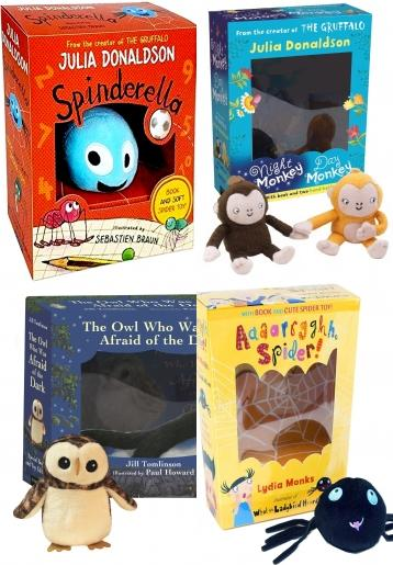 Plush Toy with Books, That's Not My Penguin Book and Toy, Spinderella By Julia Donaldson Book & Plush Set, Guess How Much I Love You, The Very Hungry Caterpillar