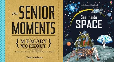 Fun Facts & Trivia Book, Quiz, Memory Game, Puzzles, Crosswords, Top 10 of Everything 2019, 52 Things to Learn on the Loo, Collins Pub Quiz, Weird But True! 2019, See Inside Space, The Senior Moments Memory Workout