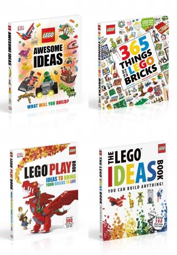 lego, lego books, lego book collection, lego collection, lego book collection set, the lego ideas book, lego awesome ideas, lego 365 things to do with lego bricks, lego playbook, build lego, make lego, lego play book set, amazing lego, amazing lego book collection, 9781405350679, 9780241182987, 9780241427989, 9781409327516
