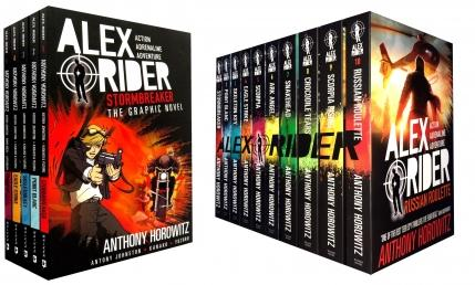 anthony,horowitz, Alex Rider, Alex Rider Collection, Alex Rider Set, Russian Roulette, Scorpia Rising, Crocodile Tears, Snakehead, Ark Angel, Scorpia, Eagle Strike, Skeleton Key, Point Blanc, Stormbreaker