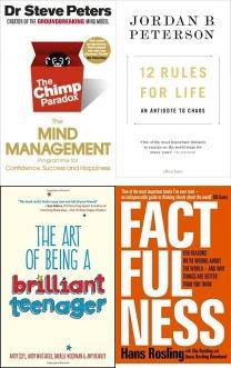 The Chimp Paradox: The Mind Management Programme to Help You Achie, 12 Rules for Life: An Antidote to Chaos, The Art of Being a Brilliant Teenager, Factfulness: Ten Reasons We're Wrong About The World - And Why Thi, The Secret Barrister: Stories of the Law and How It's Broken, Unnatural Causes: 'Heart-wrenchingly honest' Professor Sue Black, , Thinking, Fast and Slow, Cooking on a Bootstrap: Over 100 simple, budget recipes, Business Books, Finance Books, Law Books, Business Collection, Law Set