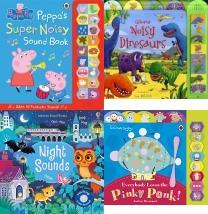 Peppa Pig: Peppa's Super Noisy Sound Book, Noisy Dinosaur: Sound Book (Noisy Books), , Night Sounds (Noisy Books), In the Night Garden: Everybody Loves the Pinky Ponk!, Room on the Broom Sound Book, The Gruffalo's Child Sound Book, Christmas, Baby's Very First Books, Baby's Very First Sound Books, Babys Very First Nature Sounds, baby sounds, kids books, baby book, children books, popular children's books