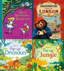 pop up, pop up book, children books, pop up cards, kids books, Alice's Adventures in Wonderland: Pop-up Book, Paddington Pop-Up London: Movie tie-in: Collectorâ??s Edition (Pad, Pop-Up Dinosaurs (Pop Ups), Pop-Up Jungle (Pop ups), Pop-Up Garden (Pop ups), Pop-up London, Pop-up Cinderella (Pop Up Fairy Tales), Peter Pan: A Classic Pop-up Story with Sounds. (Classic Pop Up Sou, LEGO Pop-up