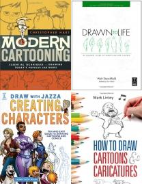 Modern Cartooning (Christopher Hart's Cartooning), Drawn to Life: 20 Golden Years of Disney Master Classes: The Walt , Draw With Jazza - Creating Characters: Fun and Easy Guide to Drawi, How To Draw Cartoons and Caricatures, Doodling for Dog People, Write and Draw Your Own Comics, Humongous Book of Cartooning (Christopher Hart's Cartooning), How to Draw: Manga: In Simple Steps, Cartooning Books Collection, Bone Comic, Caricatures, Toon Comic, Cartooning Books, Cartooning, How To Draw