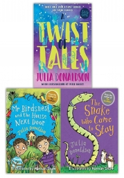 Julia Donaldson Little Gems Collection 3 Books Set (Mr Birdsnest and the House Next Door, A Twist of Tales, The Snake Who Came to Stay) Photo