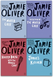 Jamie oliver Collection 4 Books Set (The Naked Chef, The Return of the Naked Chef, Happy Days with the Naked Chef, Jamies Kitchen) Photo