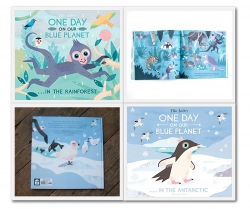 Ella Bailey Collection One Day On Our Blue Planet 2 Books Set (In The Rainforest, In The Antarctic) Photo