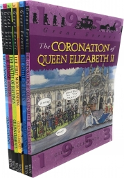 Gillian Clements Great Events 6 Books Collection Set (The Coronation of Queen Elizabeth II, The Battle of Britain, The First Moon Landing) Photo