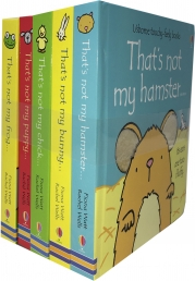 Thats Not My Pets Collection 5 Books Set (Touchy-Feely Board Books) (Thats Not My Hamster, Bunny, Chick, Puppy, Frog) Photo