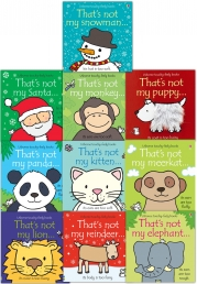 Baby books, Thats Not My Toddlers 10 Books Collection Set Pack Fiona Watt (Touchy-Feely Board Books) by Fiona Watt