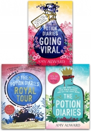 The Potion Diaries 3 Books Collection Set The Potion Diaries, Royal Tour, Going Viral by Amy Alward