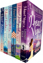 I Heart Series Collection Lindsey Kelk 6 Books Set (hollywood, vegas, new york, paris, london, forever) Photo