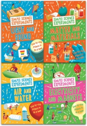 Simple Science Experiments Collection 4 Books Set By Chris Oxlade Air and Water, Light and Sound, Electricity and Magnets, Matter and Materials by Chris Oxlade
