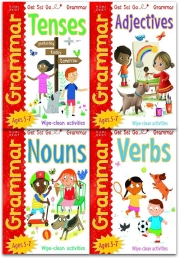 Wipe Clean English Grammar Collection 4 Books Set By Fran Bromage Adjectives, Nouns, Verbs, Tenses by Fran Bromage