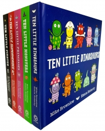 Ten Little Dinosaurs, Monsters, Princesses and Pirates 5 Board Books Collection Set Photo