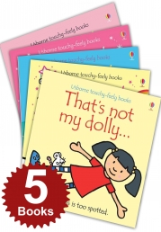 Thats Not My Girls Collection Touchy-Feely 5 Books Set (Thats Not My Mermaid, Fairy, Dolly, Baby Girl, Unicorn) Photo