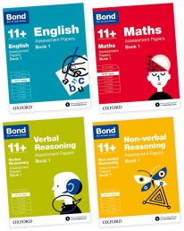 Bond 11 English Maths Non-verbal Reasoning Verbal Reasoning Assessment Papers 4 Books Set Age 10-11 by Bond 11+