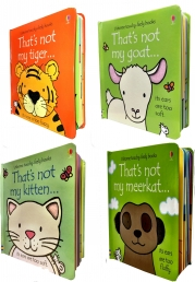 Thats Not My Touchy-Feely Collection 4 Board Books Set Kitten, Goat, Tiger, Meerkat by Fiona Watt, Rachel Wells