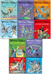Winnie and Wilbur Collection 10 Books Set By Valerie Thomas Winnie the Witch The Naughty Knight Under the Sea In Winter The Haunted House Photo