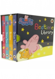 Peppa Pig 4 Board Books Set Bedtime Library Collection Photo