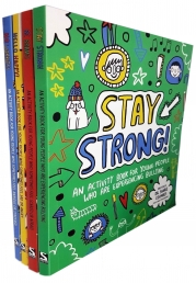 Sharie Coombes Mindful Kids 4 Activity Books Collection Set (Be Brave, Stay Strong, Hello Happy!, No Worries) Photo
