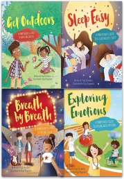 Mindful Me Series Collection 4 Books Set By Paul Christelis (Sleep Easy, Get Outdoors, Breath by Breath, Exploring Emotions) Photo