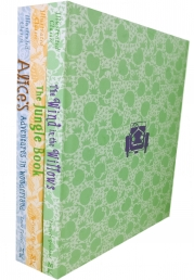 Miles Kelly Illustrated Classics 3 Books Set Deluxe Covers Series 2 (Alice's Adventures in Wonderland, The Jungle Book, The Wind and the Willows) Photo