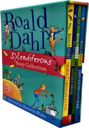 Roald Dahl Splendiferous Story Collection illustrated 4 Books Box Set (Charlie and the Chocolate Factory, The Fantastic Mr. Fox) Photo