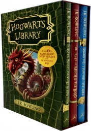 J.K. Rowling The Hogwarts Library Collection 3 Books Box Set (The Tales of Beedle the Bard, Fantastic Beasts, Quidditch) Photo