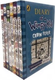 Jeff Kinney Diary of a Wimpy Kid Collection 6 Books Set (Diary of a Wimpy Kid, Rodrick Rules, The Last Straw, Dog Days, The Ugly Truth, Cabin Fever) Photo